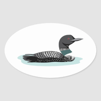 Great Northern Loon Oval Sticker