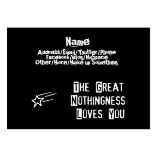 Great Nothingness Loves You Large Business Cards (Pack Of 100)