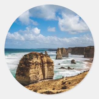 Great Ocean Road Round Sticker