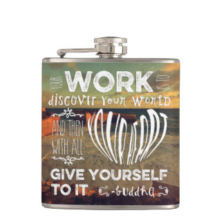 Great Ocean Road Your Work Discover World Heart Hip Flasks