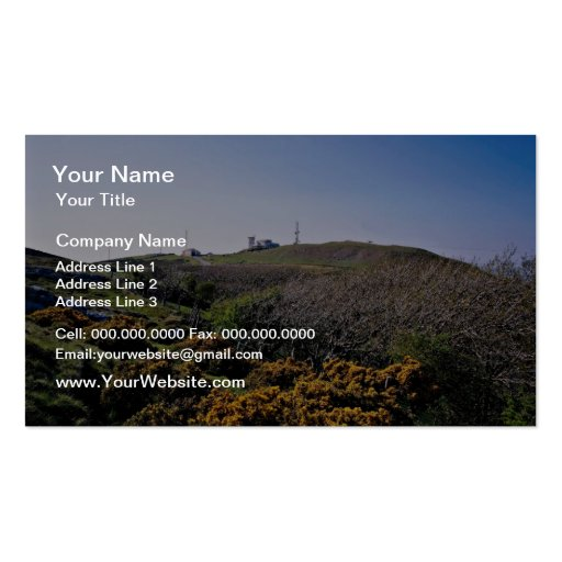 Great Orme County Park and summit, Llandudno, nort Business Card Template