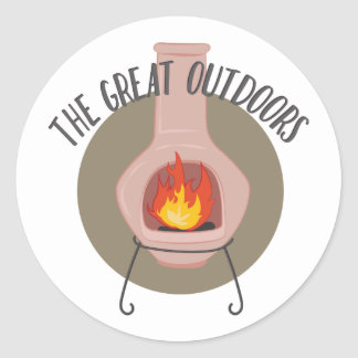 Great Outdoors Round Sticker