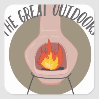 Great Outdoors Square Sticker