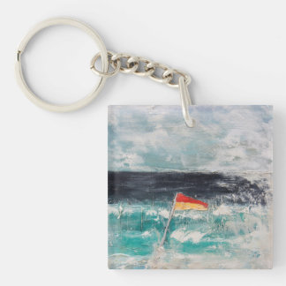Great Pacific Pty Ltd Single-Sided Square Acrylic Key Ring