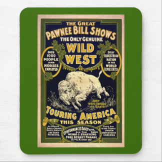 Great Pawnee Bill1903 - Vintage Wild West Mouse Pad