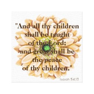 Great Peace Scripture Canvas