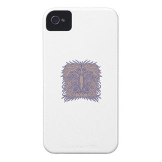 Great Philippine Eagle Head Mono Line iPhone 4 Case