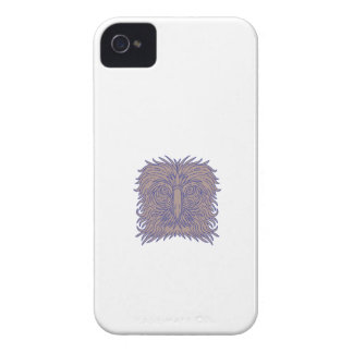 Great Philippine Eagle Head Mono Line iPhone 4 Case-Mate Case
