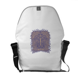 Great Philippine Eagle Head Mono Line Messenger Bags