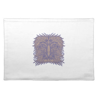 Great Philippine Eagle Head Mono Line Placemat