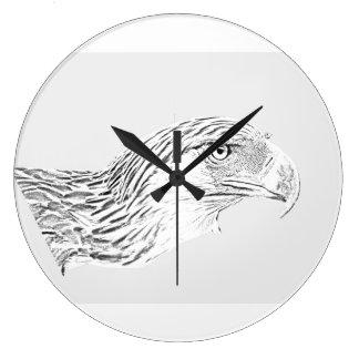 Great Philippine Eagle Large Clock