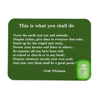 Great Poem by Walt Whitman #4 Magnet