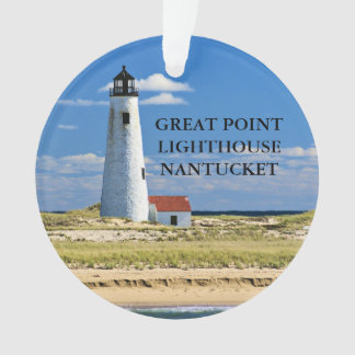 Great Point Lighthouse Nantucket MA Ornament