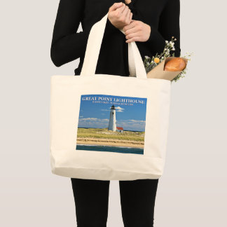 Great Point Lighthouse Nantucket MA Tote Bag