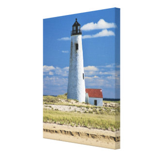 Great Point Lighthouse Nantucket MA Wrapped Canvas