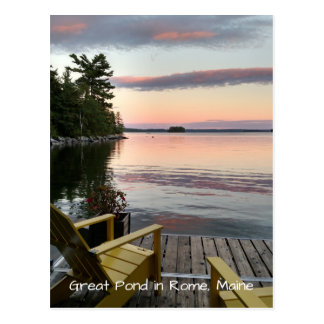 Great Pond in Rome, Maine Postcard