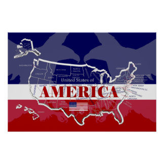Great Poster of United States of America; any size