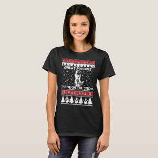 Great Pyrenee Through The Snow T-shirt