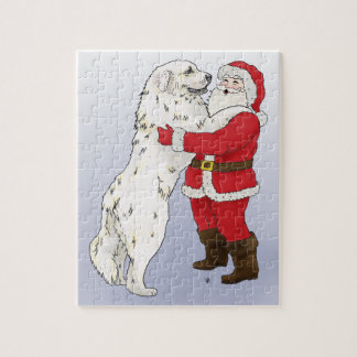 Great Pyrenees Christmas Puzzle