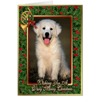 Great Pyrenees Dog Blank Christmas Card