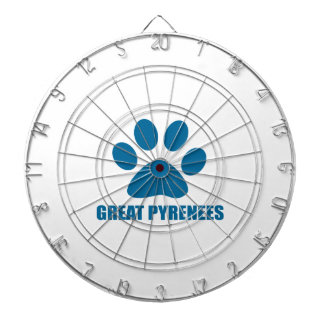 GREAT PYRENEES DOG DESIGNS DARTBOARD