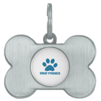 GREAT PYRENEES DOG DESIGNS PET ID TAG
