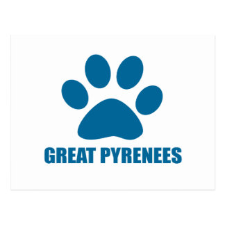 GREAT PYRENEES DOG DESIGNS POSTCARD