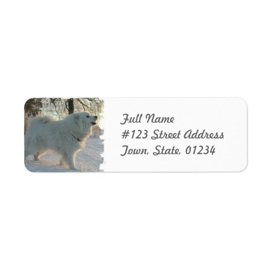 Great Pyrenees Dog Return Address Label