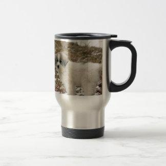 Great Pyrenees Puppy Snow Scene Coffee Mugs