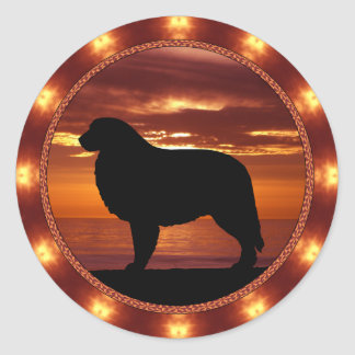 Great Pyrenees Sienna Sunset Stickers