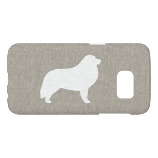Great Pyrenees Silhouette Faux Linen Style