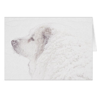 Great Pyrenees, Snow Dog series#2 Card