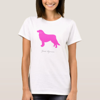 Great Pyrenees T-shirt (pink silhouette)