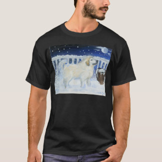 Great Pyrenees won't come in from the cold. T-Shirt