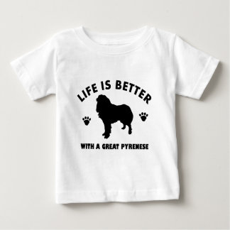 great-pyrenese dog design baby T-Shirt