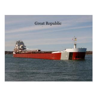 Great Republic post card