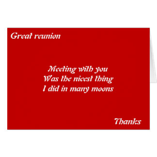 Great reunion greeting card