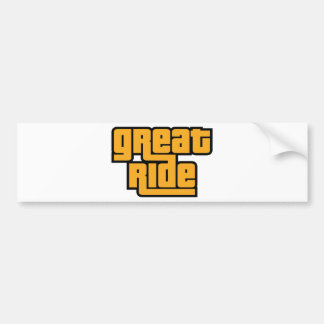 Great Ride Bumper Sticker
