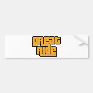 Great Ride Bumper Sticker