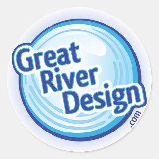 Great River Design.com Sticker