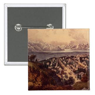 Great Salt Lake, Utah 15 Cm Square Badge
