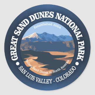 Great Sand Dunes National Park Classic Round Sticker