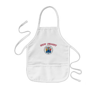 Great Seal of New Jersey Kids Apron