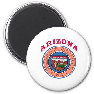 Great Seal Of  State Arizona 6 Cm Round Magnet