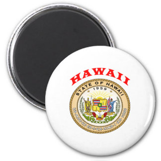 Great Seal Of  State Hawaii 6 Cm Round Magnet