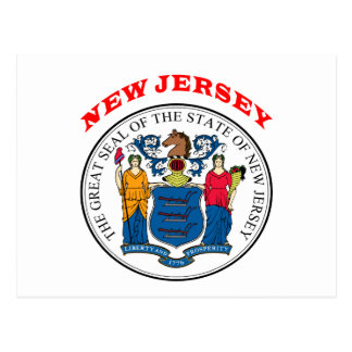 Great Seal Of  State New Jersey Postcard