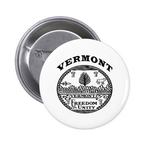 Great Seal Of  State Vermont Pins