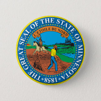Great seal of the state of Minnesota 6 Cm Round Badge