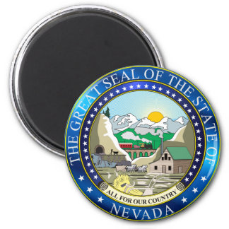 Great seal of the state of Nevada 6 Cm Round Magnet