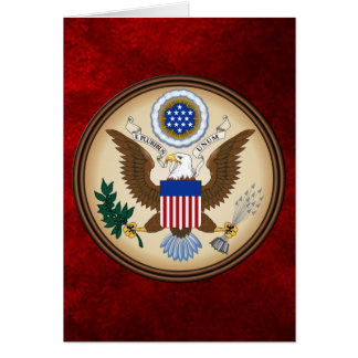 GREAT SEAL OF THE UNITED STATES GREETING CARD